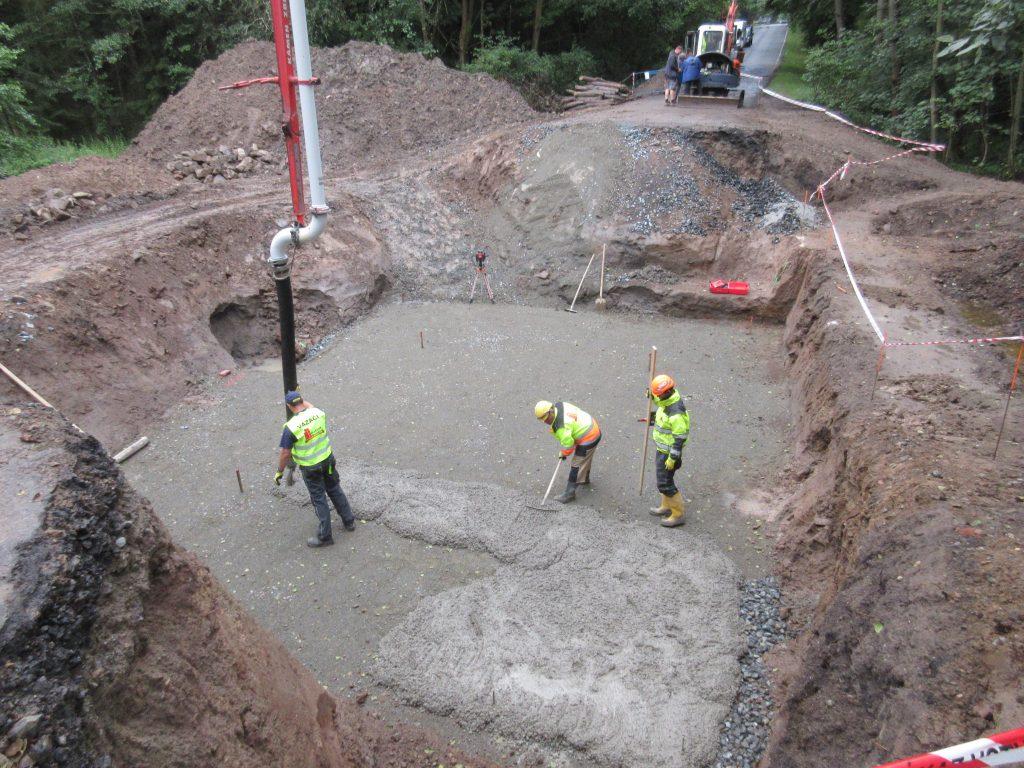 Betonáž podkladního betonu